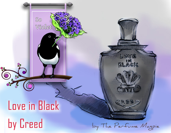 Love in Black by Creed - Illustration by The Perfume Magpie
