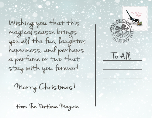 Christmas Message from The Perfume Magpie