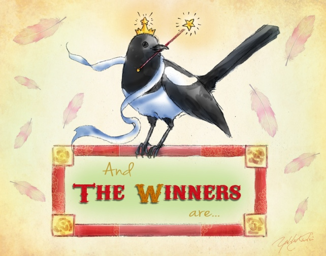 Winter Giveaway Winners!! | Illustration by The Perfume Magpie