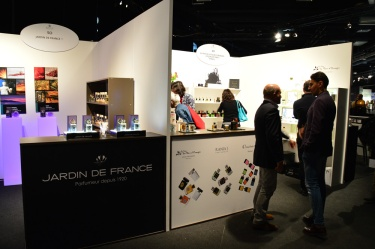 Visitors sniffing and chatting at Esxence 2016   Photo by The Perfume Magpie